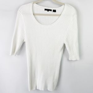 Jeanne Pierre Short Sleeve Cotten Sweater